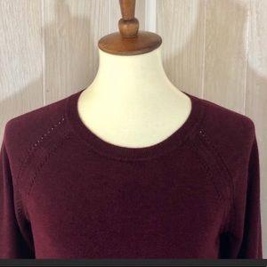 Philosophy Merlot Sweater 3/4 Sleeves Size Large